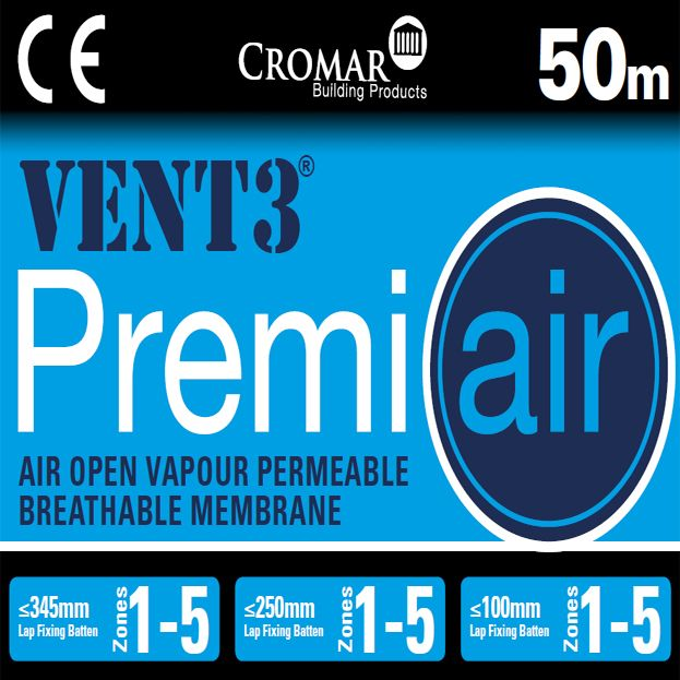 Premiair Vent 3 Air Open Breather Membrane Felt Cromar
