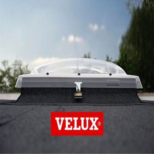 Velux flat roof window clear integra dome and kerb for Velux customer support