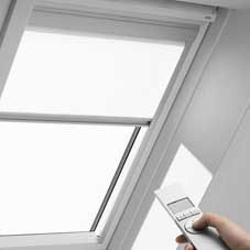 Velux remote controlled electrical roof blind rml p10 for Velux window blinds remote control