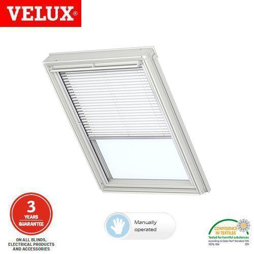 Velux manual venetian blind pal pk10 7001s white for Velux solar blinds installation instructions