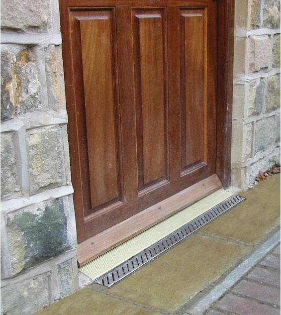 aco doorway drain door threshold channel 1m