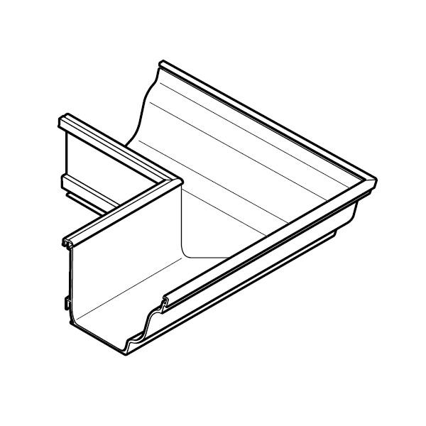 aluminium guttering moulded alumasc external angle 140mm