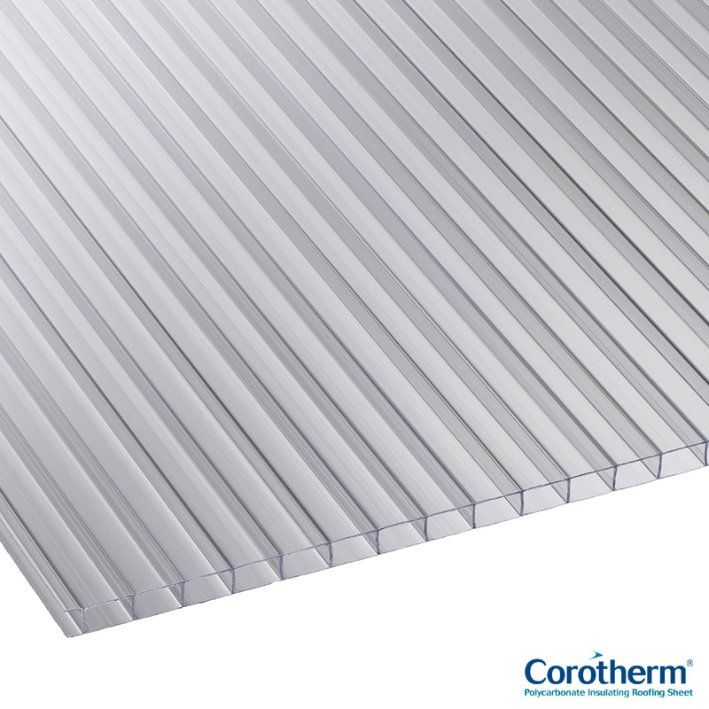 Corotherm 10mm Clear Twinwall Polycarbonate Sheet - 4000mm ...