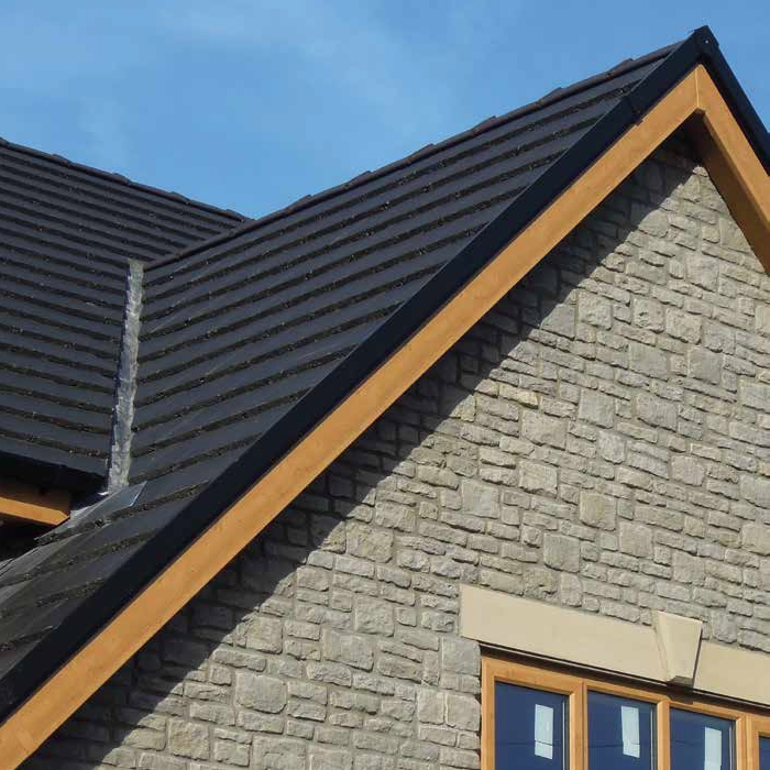 Corovent Cdv Continuous Dry Verge R Profile In Black 5m