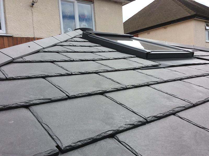Envirotile Slate Half Tile In Slate Grey Pack Of 10