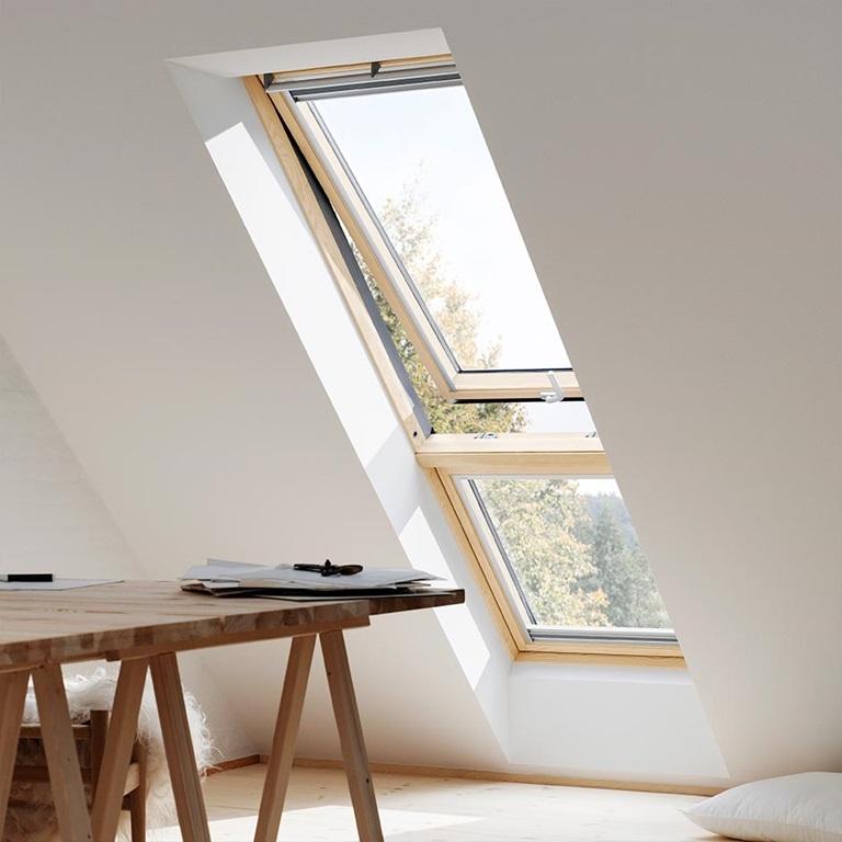 velux gil mk34 3060 pine fixed sloped additonal element. Black Bedroom Furniture Sets. Home Design Ideas