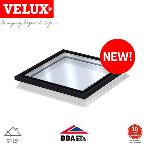 Velux Fixed Modular Rooflight Clear For Flat Roof 900mm