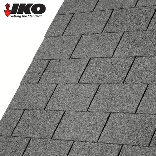 IKO Armourglass Square Butt Roofing Shingles Slate Grey