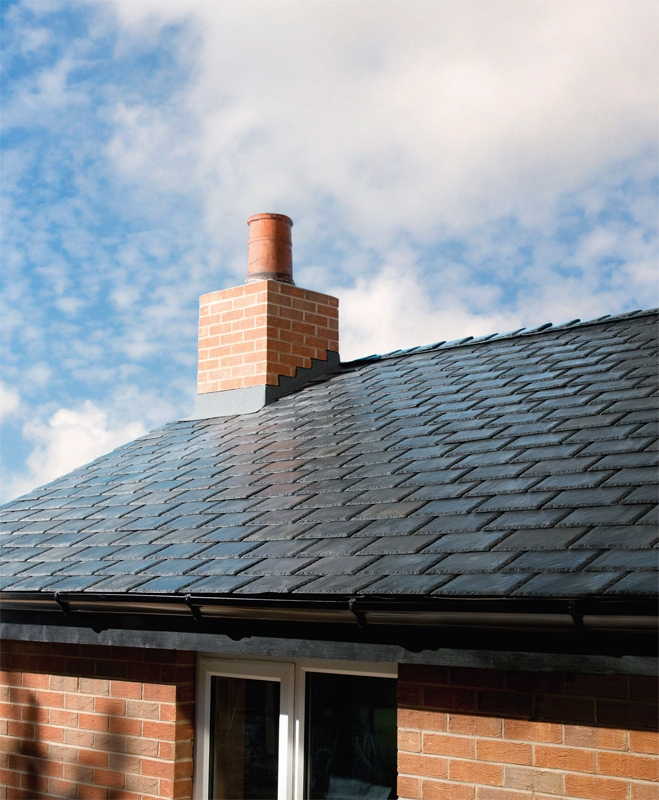 Ikoslate Recycled Composite Roof Slate In Slate Grey 1