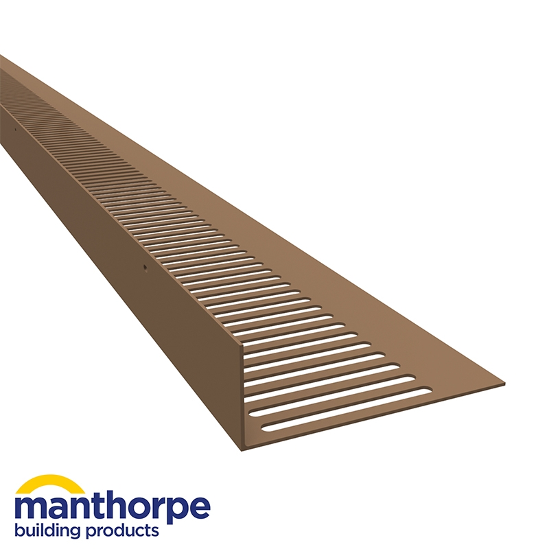 Manthorpe G826 Flat Roof Soffit Vent In Brown Pack Of 10