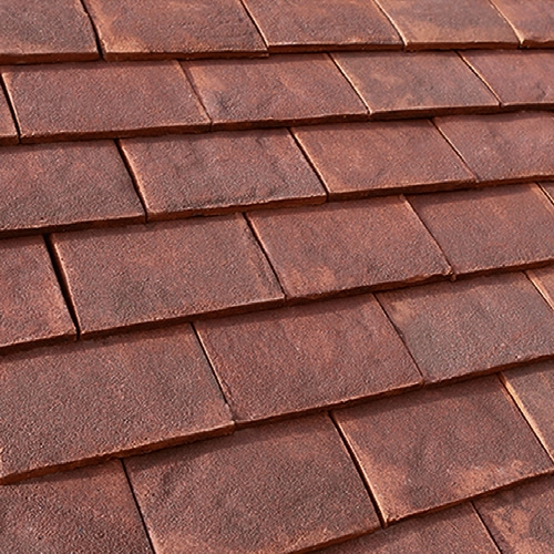 Marley canterbury handmade clay plain roof tile burford for Clay tile roofs