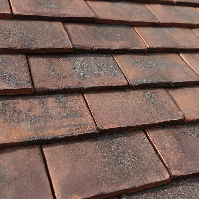 Marley canterbury handmade clay plain roof tile loxleigh for Clay tile roofs