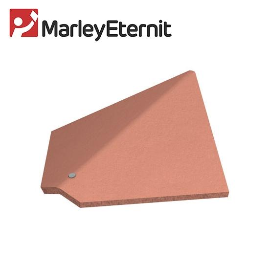 Marley clay plain hawkins arris hip dark heather for Buy clay roof tiles online