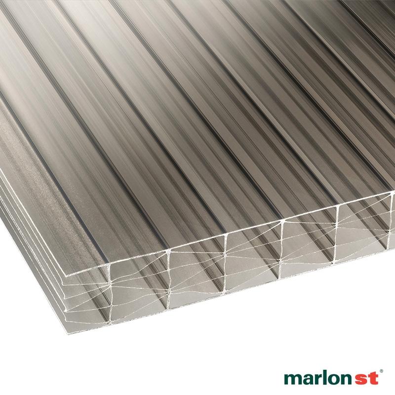 Marlon 25mm Bronze Opal Sevenwall Polycarbonate Sheet