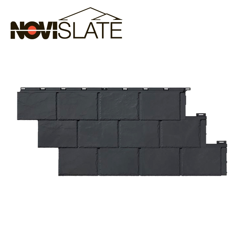 Novislate polymer roofing panel in carbon gray by novik for Polymer roofing