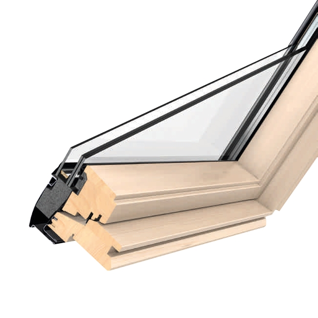 velux ggl ck04 3066 pine centre pivot window triple glazed. Black Bedroom Furniture Sets. Home Design Ideas