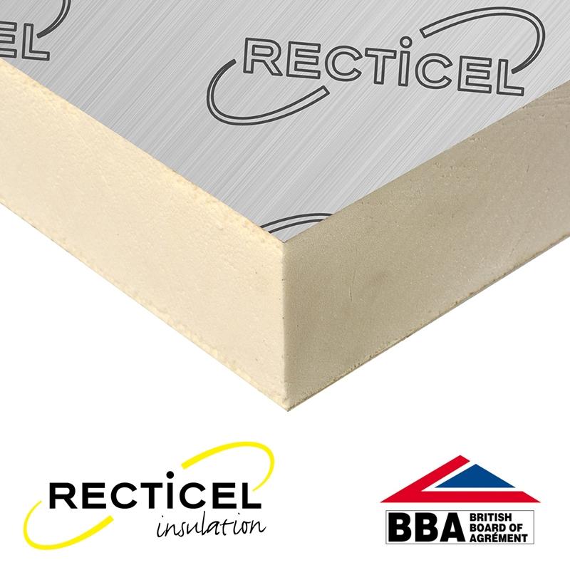 100mm Recticel Eurothane Gp Rigid Insulation Board 2 4m
