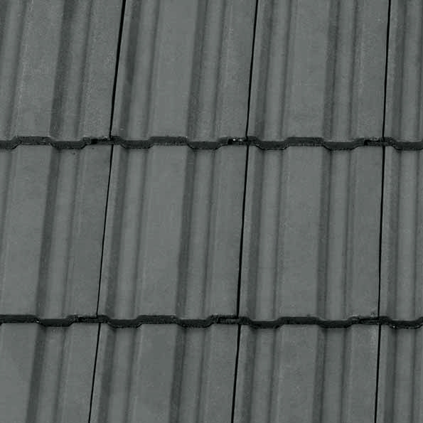 Redland 49 Concrete Profiled Roof Tile In Slate Grey