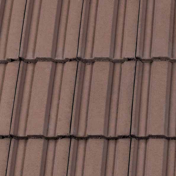 Redland 49 Concrete Profiled Roof Tile In Tudor Brown