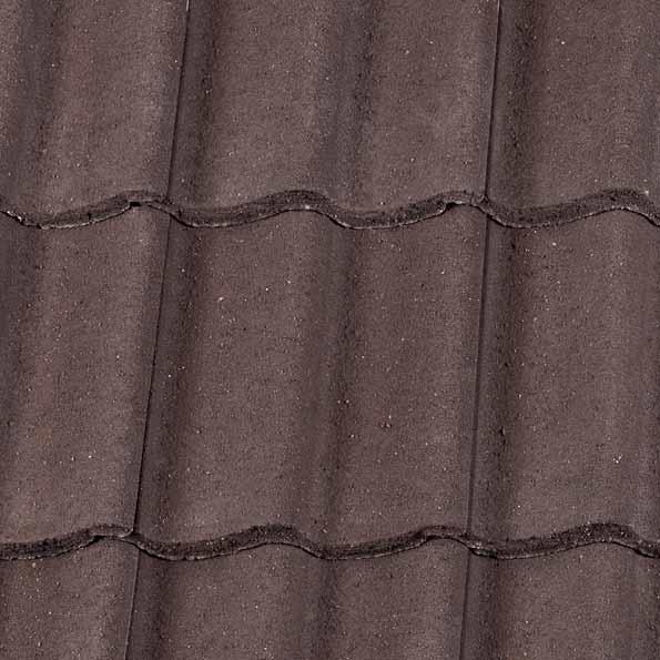 Redland Grovebury Concrete Roof Tile Granular Brown
