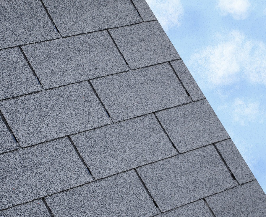 Square Butt 3 Tab Roofing Felt Shingles In Grey 3m2 Pack