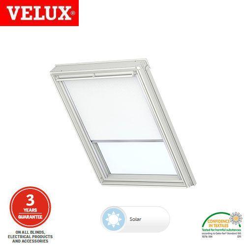 velux solar roller blind rsl pk25 1028 white roofing superstore. Black Bedroom Furniture Sets. Home Design Ideas