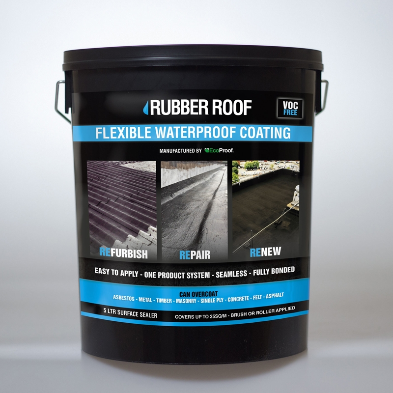 Rubber Roof Surface Primer 5ltrs 25m2 Coverage