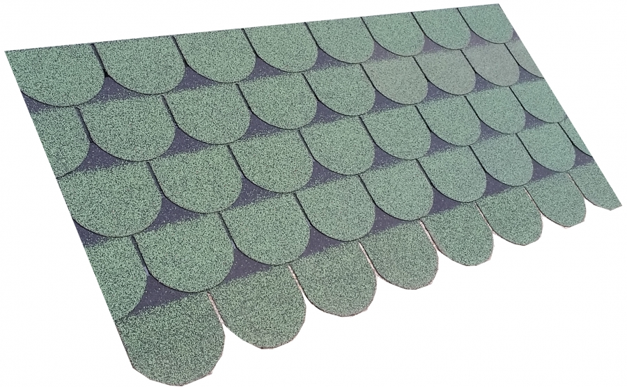 ... Roofing Superstore Scalloped Roofing Felt Shingles In Green   3m2 Pack