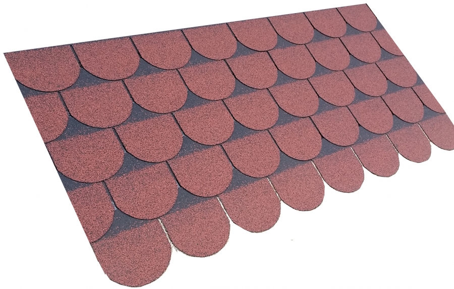 Roofing Superstore Scalloped Roofing Felt Shingles In Red