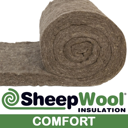 Sheepwool insulation comfort roll 4m x 570mm x 100mm 4 for Sheeps wool insulation prices
