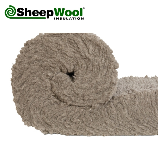 Sheepwool insulation premium roll 3m x 380mm x 150mm 3 for Wool insulation cost