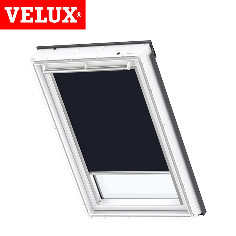 velux manual blackout blind dkl mk06 1100 dark blue roofing superstore. Black Bedroom Furniture Sets. Home Design Ideas