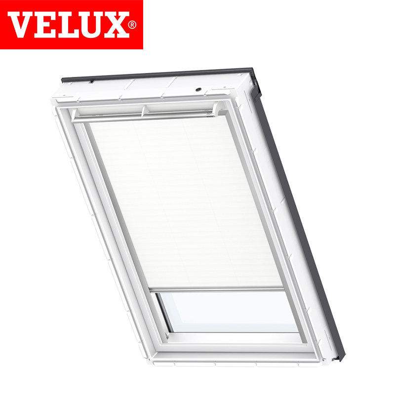 Velux solar blackout blind dsl sk06 1025 white roofing for Velux solar blinds installation instructions