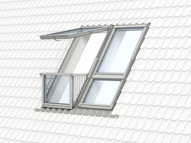 velux gdl sk19 sk0l222 cabrio balcony system for slate. Black Bedroom Furniture Sets. Home Design Ideas