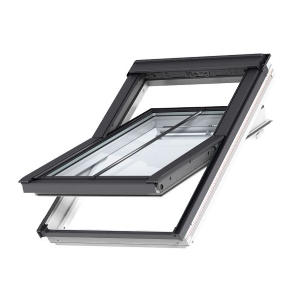 velux ggu fk06 087021u white conservation integra window 66cm x 118cm roofing superstore. Black Bedroom Furniture Sets. Home Design Ideas