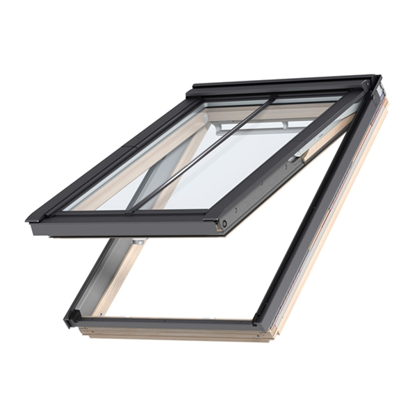 Velux gpl pk10 3060 pine top hung window advanced 94cm x for Velux skylight control rod