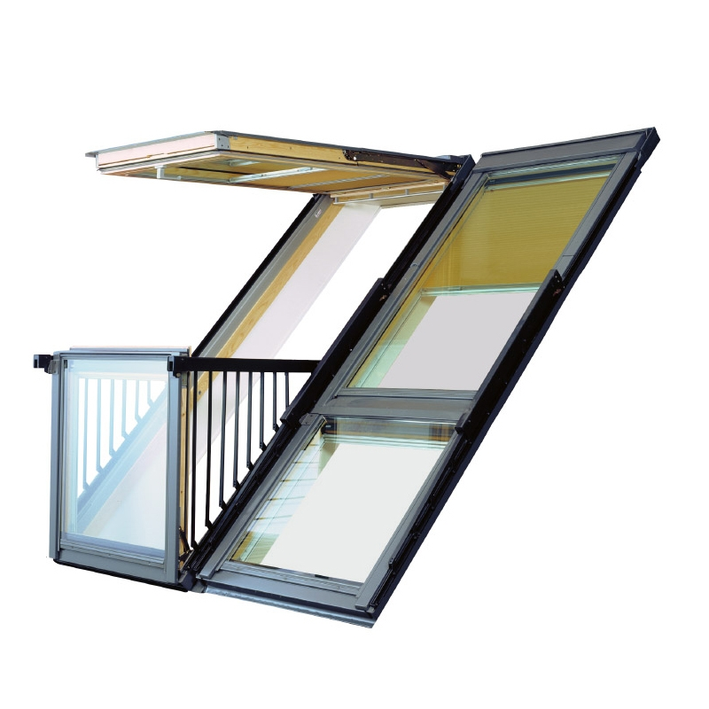 velux gdl sk19 sk0l222 cabrio balcony system for slate 238cm x 252cm roofing superstore. Black Bedroom Furniture Sets. Home Design Ideas