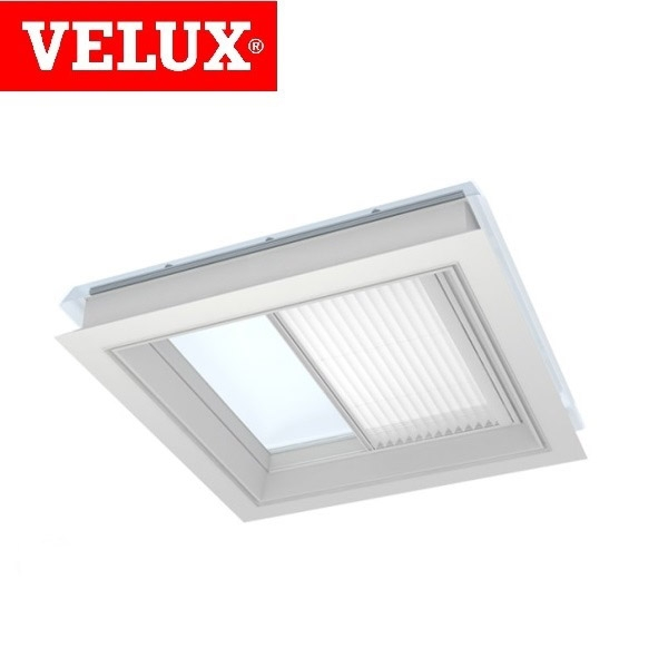 Velux fmg 100150 1016 remote control pleated blind white for Velux window blinds remote control