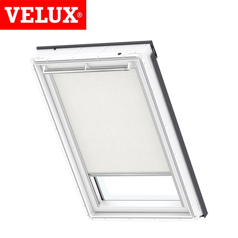 Velux manual roller blind rfl mk08 1028 white roofing for Velux solar blinds installation instructions