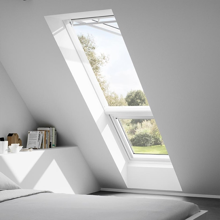 velux giu mk34 0060 white fixed sloped additonal element. Black Bedroom Furniture Sets. Home Design Ideas