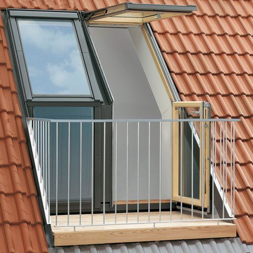 Velux Twin Roof Terrace L H For 120mm Tile Gel M08