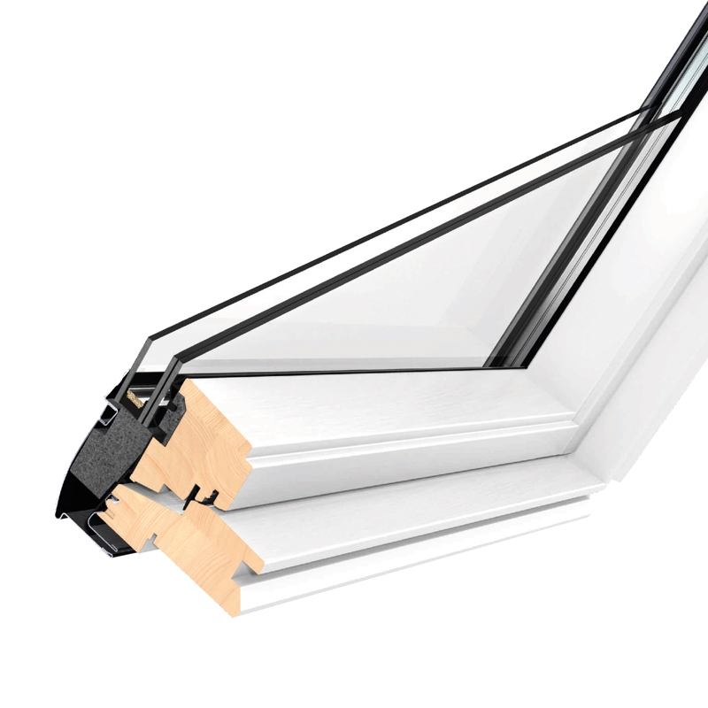 Velux ggl pk25 2070 white centre pivot window laminated for Velux skylight control rod