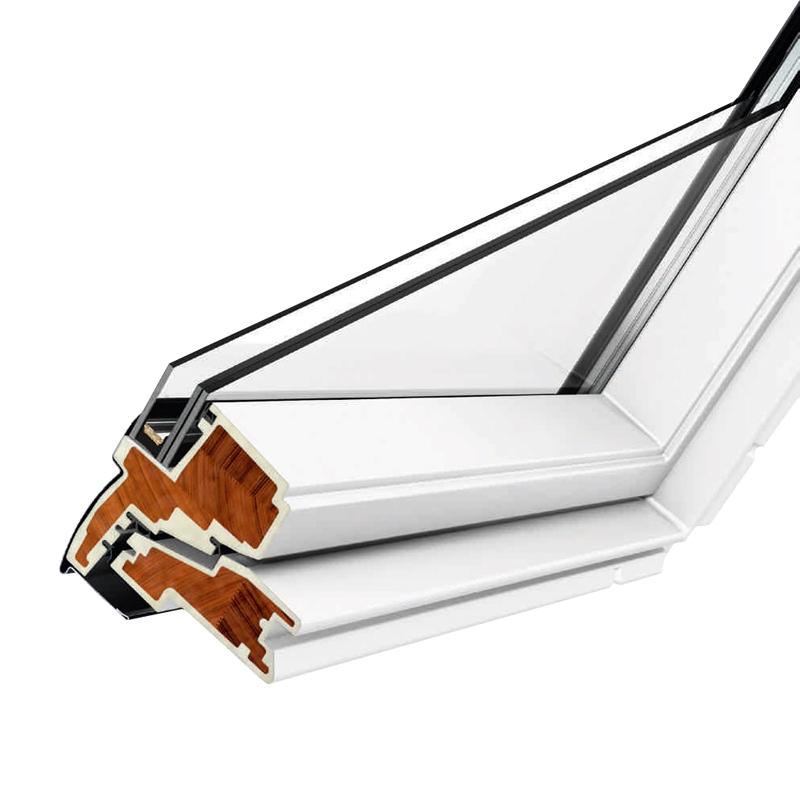 velux gpu mk08 0034 white top hung window obscure 78cm x. Black Bedroom Furniture Sets. Home Design Ideas