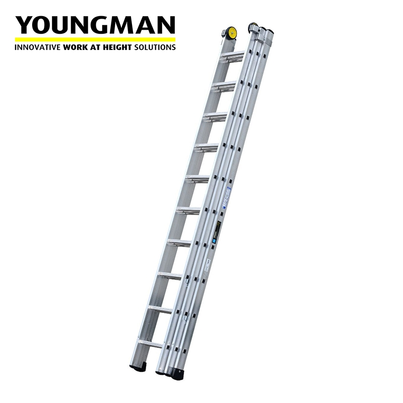 Youngman Industrial 500 3 Section Extension Ladder 3 12m