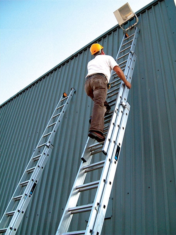 3 Section Ladder : Youngman industrial section extension ladder m