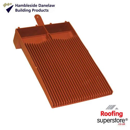 Flush Fit Plain Tile Roof Ventilator - Terracotta