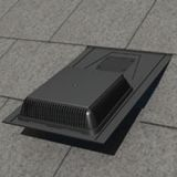 Manthorpe Refurbishment Slate Vent 600mm x 300mm (10000mm2) - Black