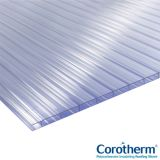 Corotherm 10mm Clear Twinwall Polycarbonate Sheet 4000mm x 900mm