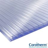 Corotherm 16mm Clear Triplewall Polycarbonate Sheet 2500mm x 1600mm