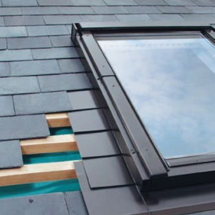 ELV/02 Fakro Single Flashing For Slate Up To 8mm Thick - 55cm x 98cm